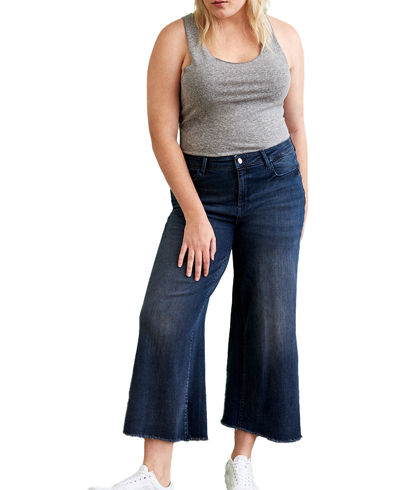 Yieldings Discount Clothing Store's ICN - Wide Leg Jeans by Warp + Weft in Moonglow