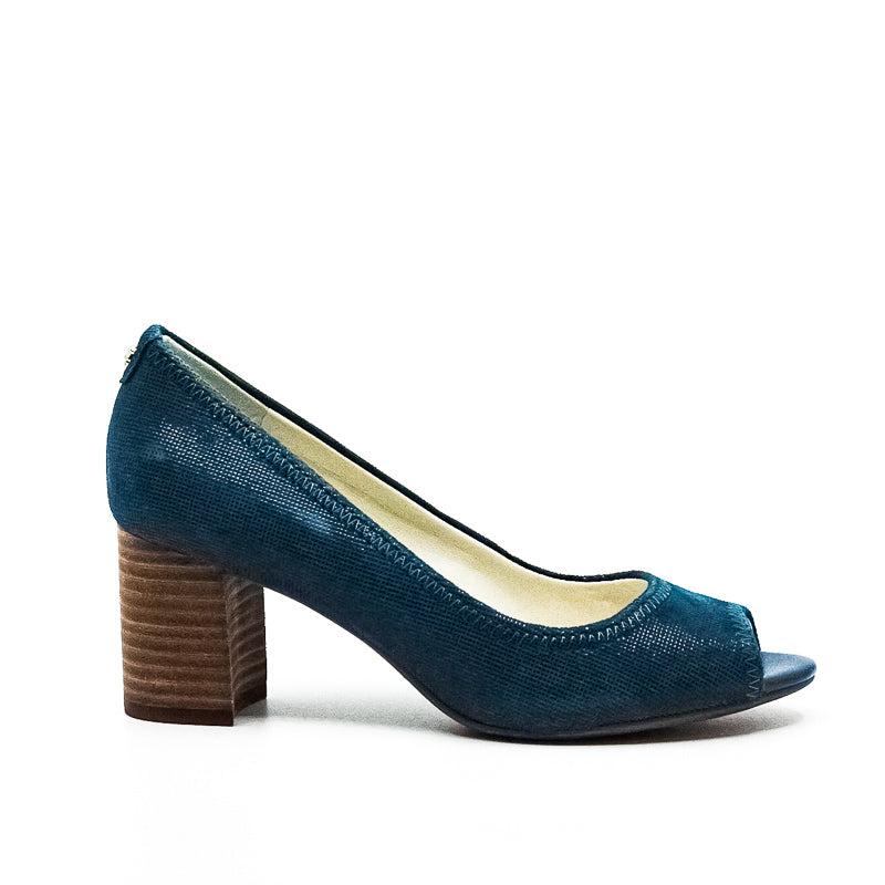 Yieldings Discount Shoes Store's Meredith Block Heels by Anne Klein in Dark Turquoise