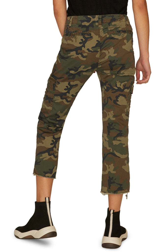 Yieldings Discount Clothing Store's Combat Cargo Cropped Pants by Sanctuary in Love Camo