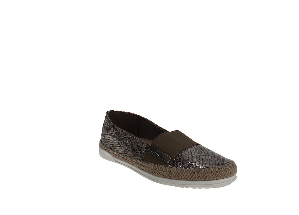 Yieldings Discount Shoes Store's Zilya Espadrille Flats by Anne Klein in Metallic Taupe