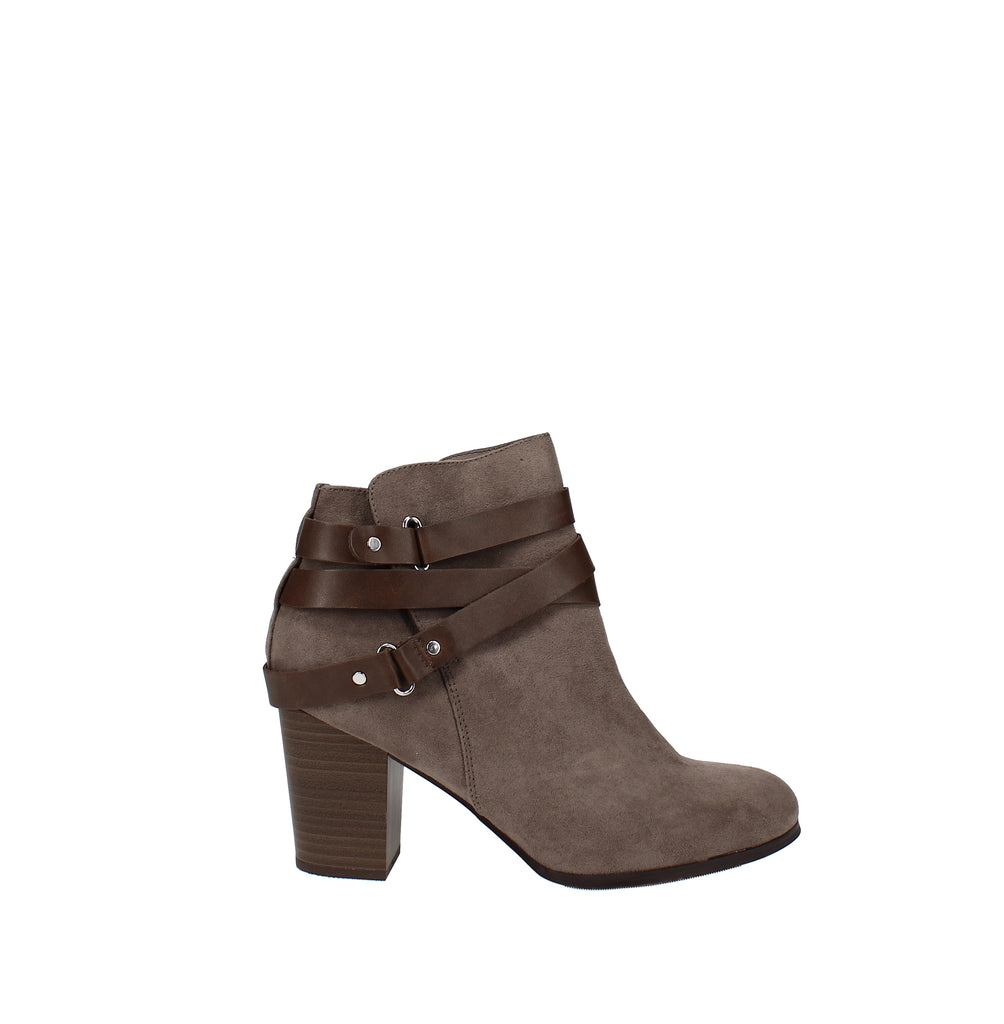 Yieldings Discount Shoes Store's Melany Booties by Material Girl in Taupe