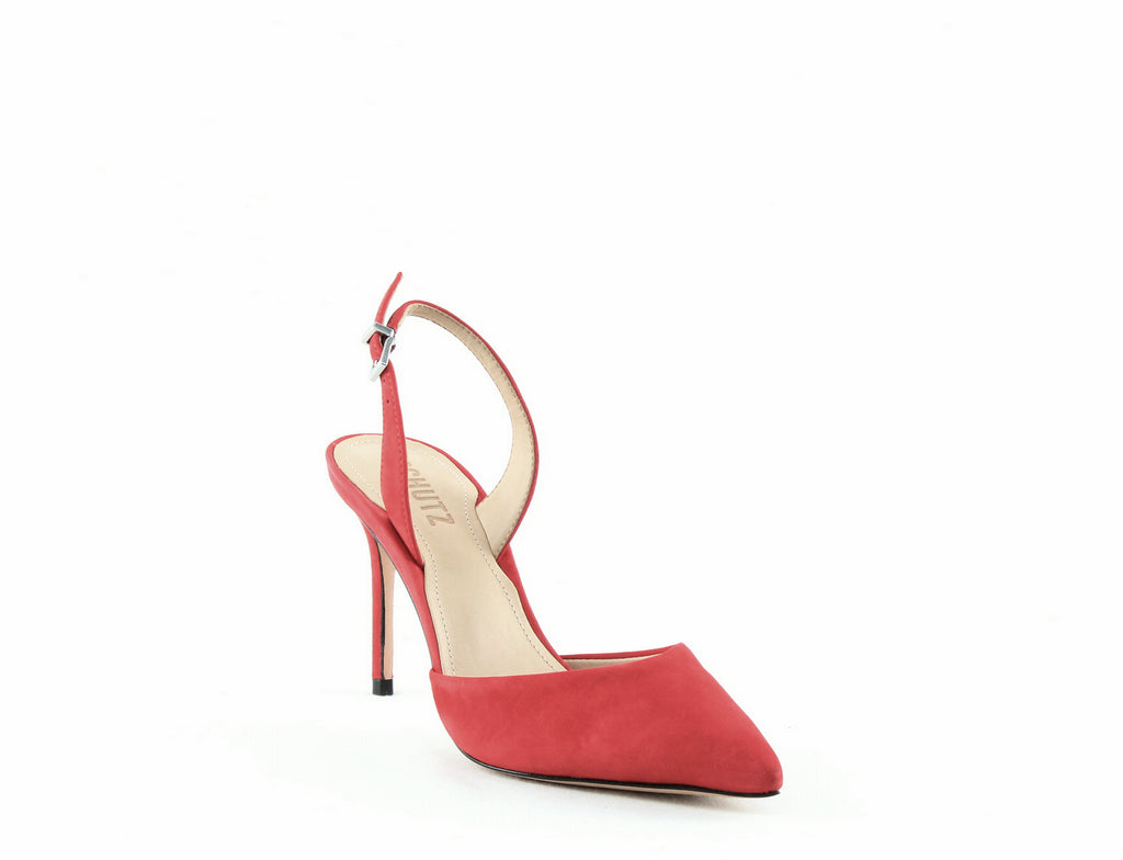 Yieldings Discount Shoes Store's Maysha Slingback Pointed-Toe Pumps by Schutz in Club Red