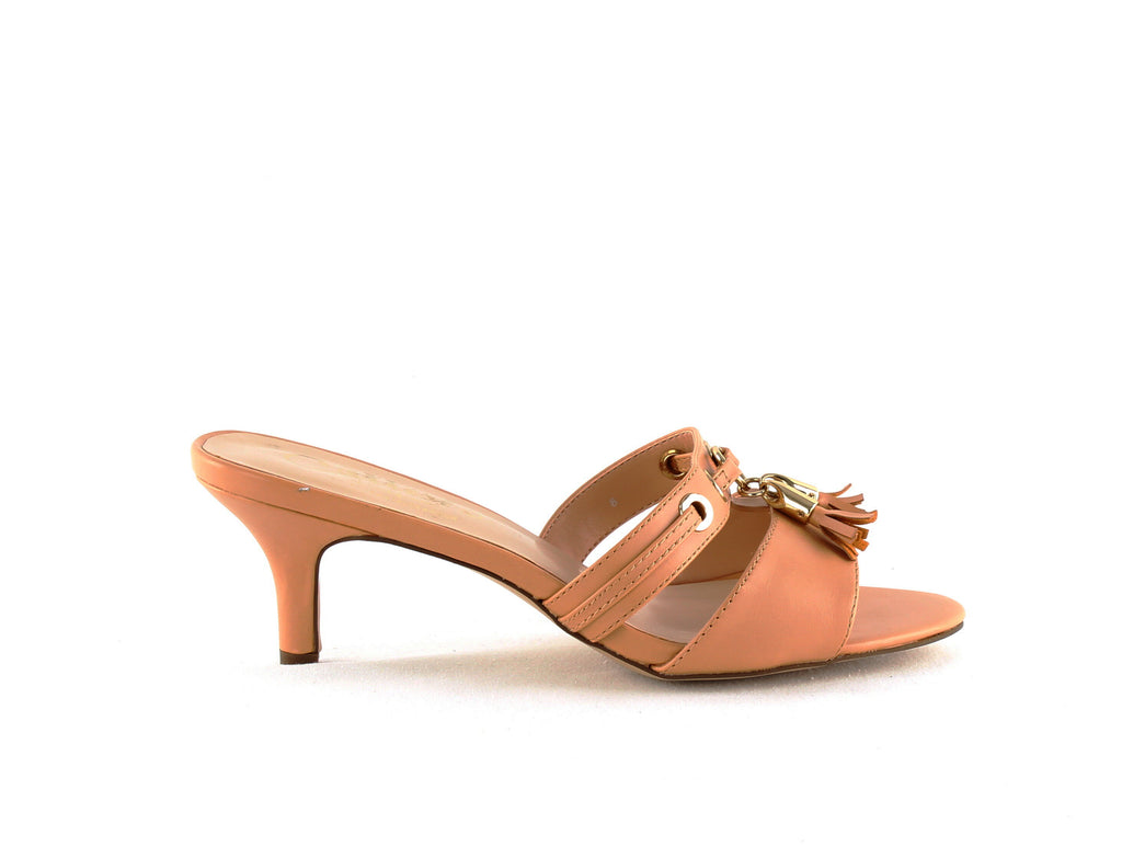 Yieldings Discount Shoes Store's Jeanet Heeled Sandal by Callisto Of California in Nude