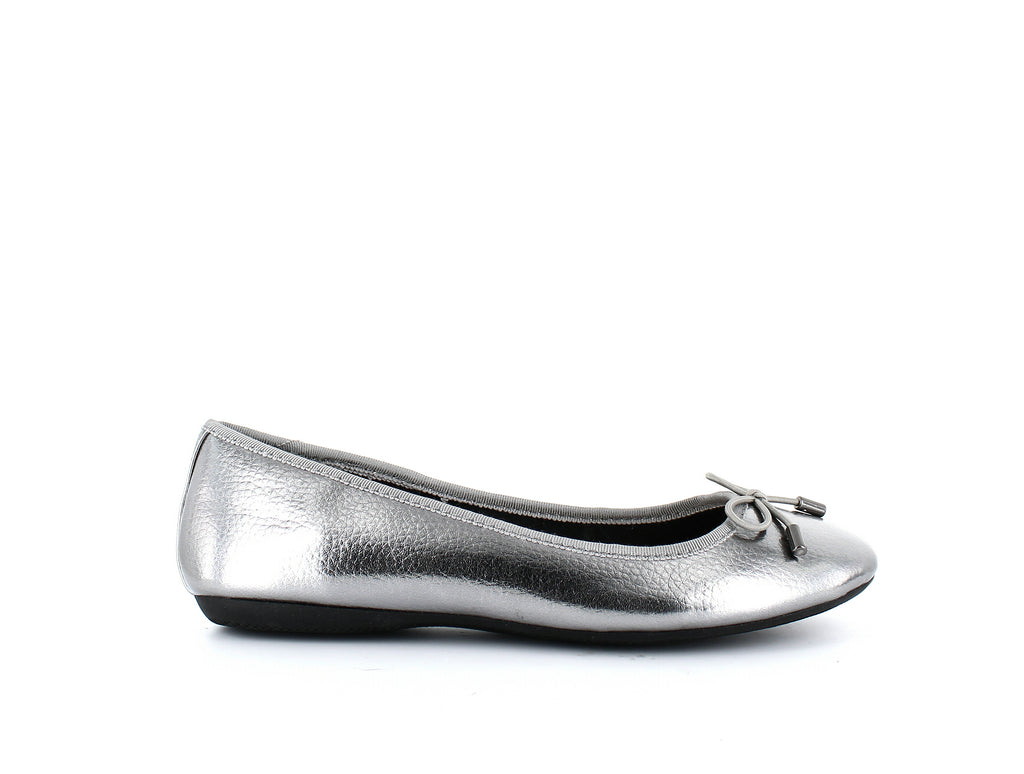 Yieldings Discount Shoes Store's Aleaa Round Toe Ballet Flats by Alfani in Pewter