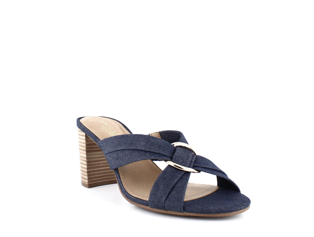 Yieldings Discount Shoes Store's High Water Dress Sandals by Aerosoles in Denim