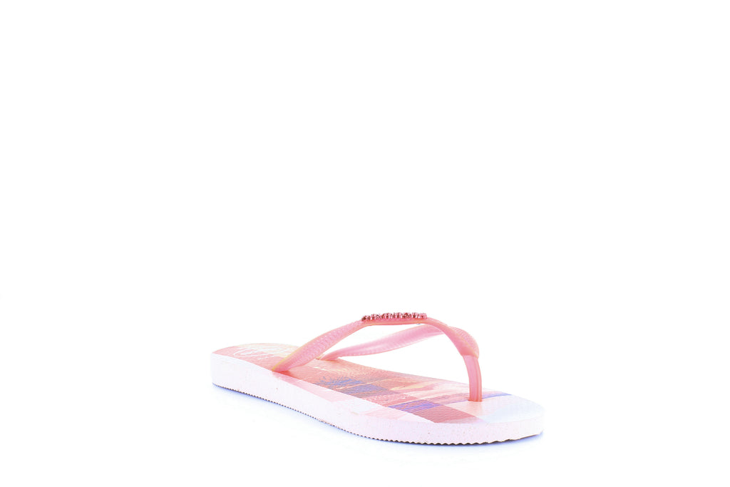 Yieldings Discount Shoes Store's Slim Paisage Flip-Flops by Havaianas in Crystal Rose