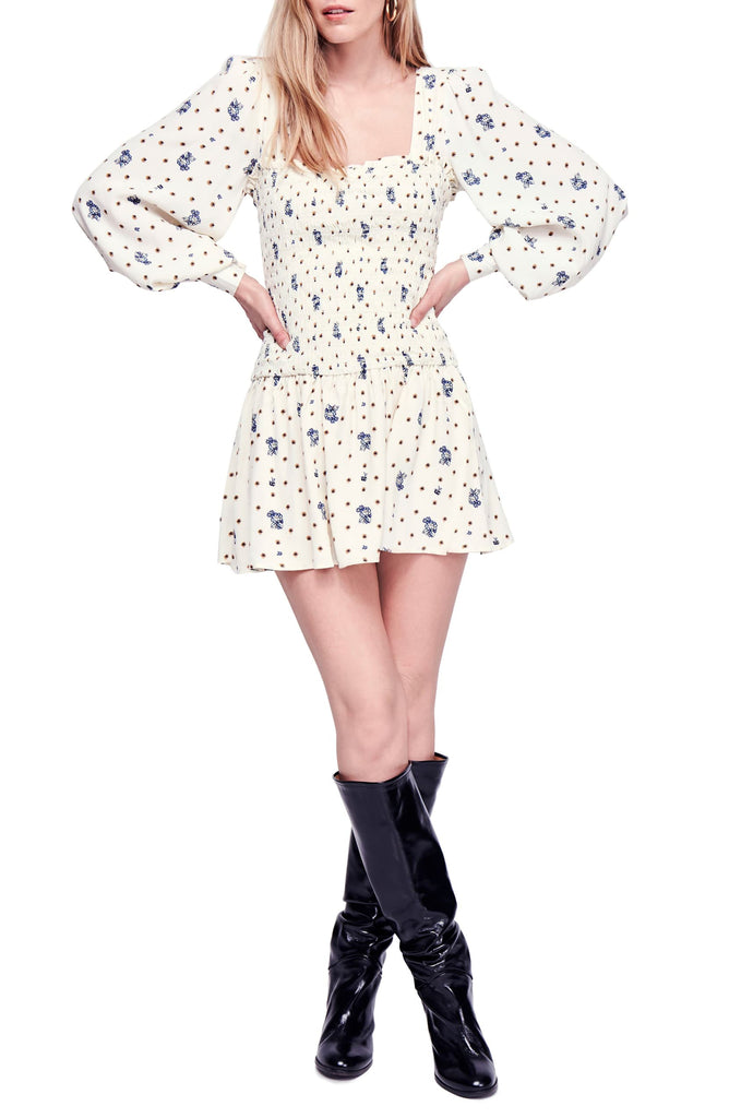 Yieldings Discount Clothing Store's Two Faces Mini Dress by Free People in Tea Combo