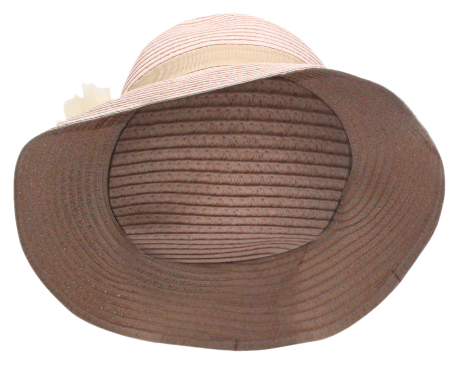 Yieldings Discount Accessories Store's Tea Time Cloche Hat by August Hat Co in Blush