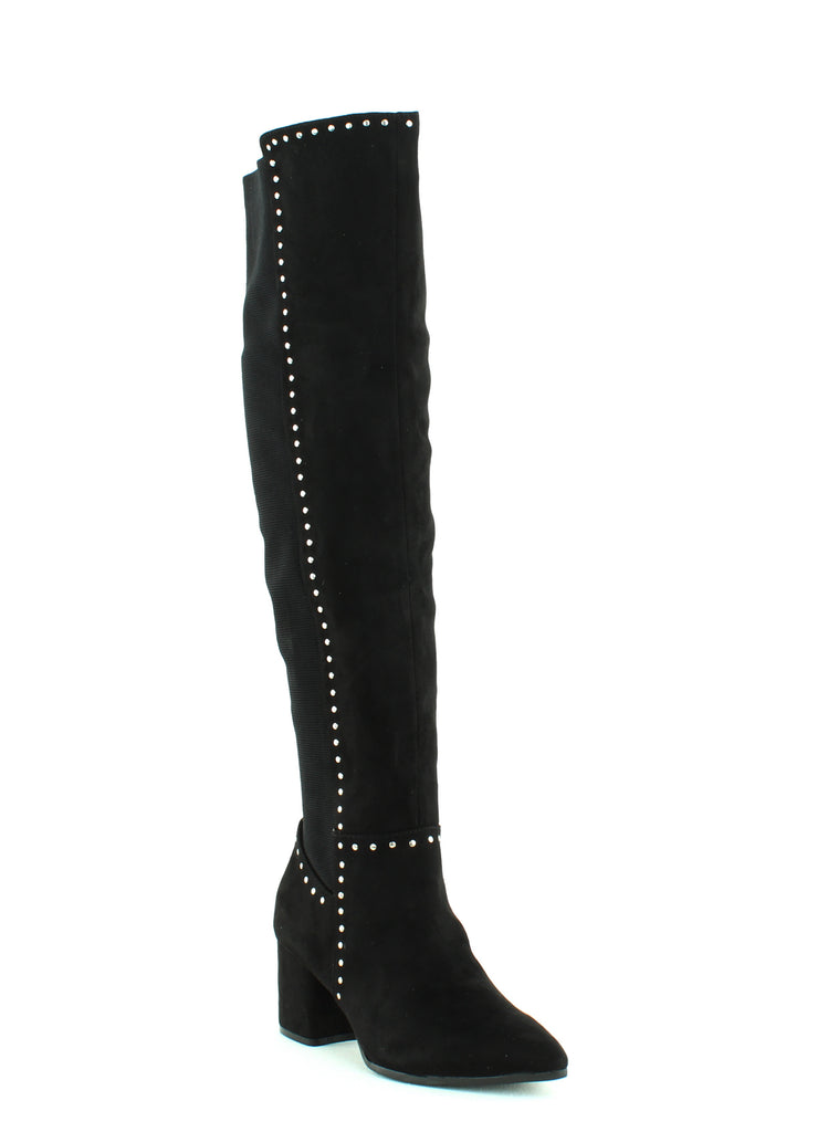 Yieldings Discount Shoes Store's Nicki Over-The-Knee Boots by Seven Dials in Black