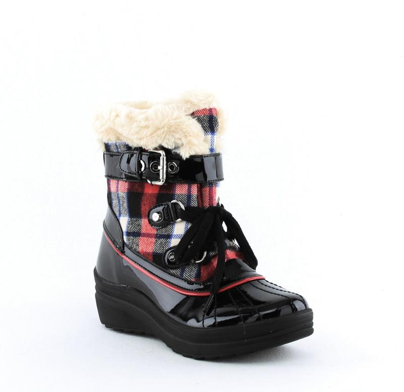 Yieldings Discount Shoes Store's Gallup Winter Boots by Anne Klein Sport in Red Multi Fabric