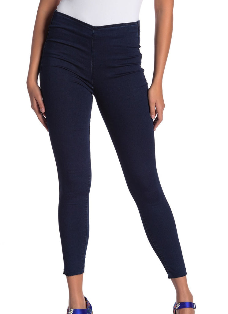 Yieldings Discount Clothing Store's Easy Goes It Leggings by Free People in Dark Denim