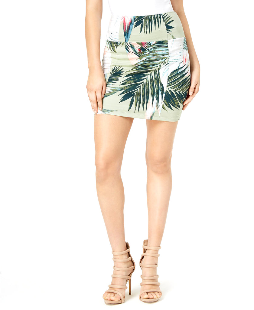 Yieldings Discount Clothing Store's Georgina Printed Skirt by Guess in Sunset Palms Desert Sage