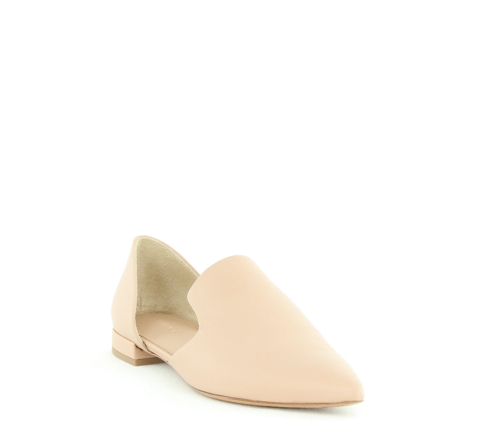 Yieldings Discount Shoes Store's Damris Two Piece Leather Loafer Flat by Vince in Nude