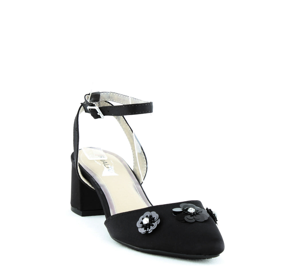 Yieldings Discount Shoes Store's Marjorie Block Heel Sandals by Rialto in Black