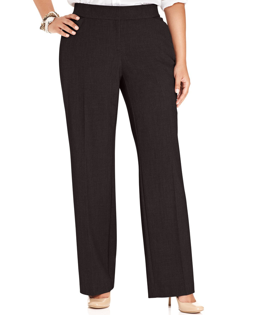 Yieldings Discount Clothing Store's Plus Size Curvy-Fit Straight-Leg Pants by Alfani in Espresso Roast