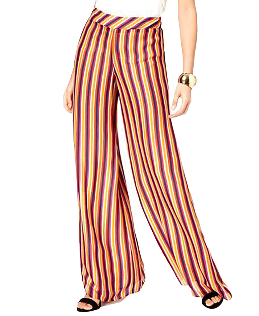 Yieldings Discount Clothing Store's Striped Pull-On Wide Leg Pants by Trina Turk in Multi