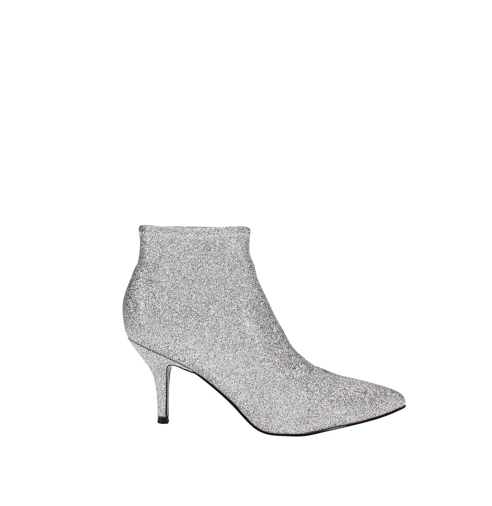 Yieldings Discount Shoes Store's Pearce Dress Booties by Nine West in Silver Texture