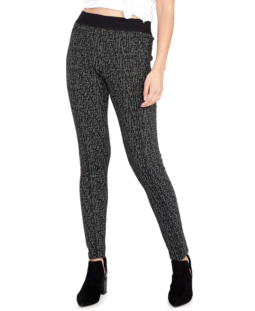 Yieldings Discount Clothing Store's Jacquard Skinny Leggings by RACHEL Rachel Roy in Black