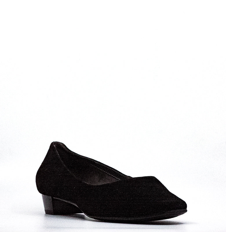 Yieldings Discount Shoes Store's Subway Suede Pumps Wide by Aerosoles in Black