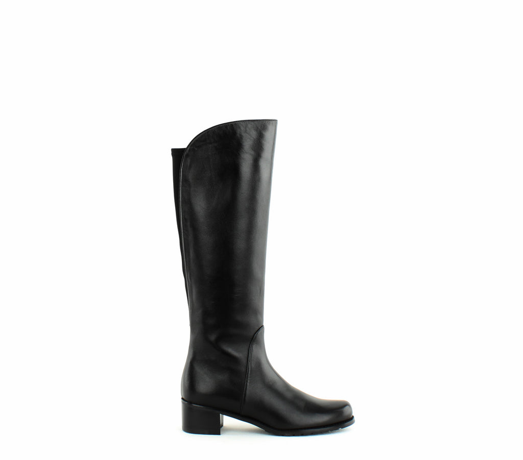 Yieldings Discount Shoes Store's Villepentagon Knee High Boots by Stuart Weitzman in Black