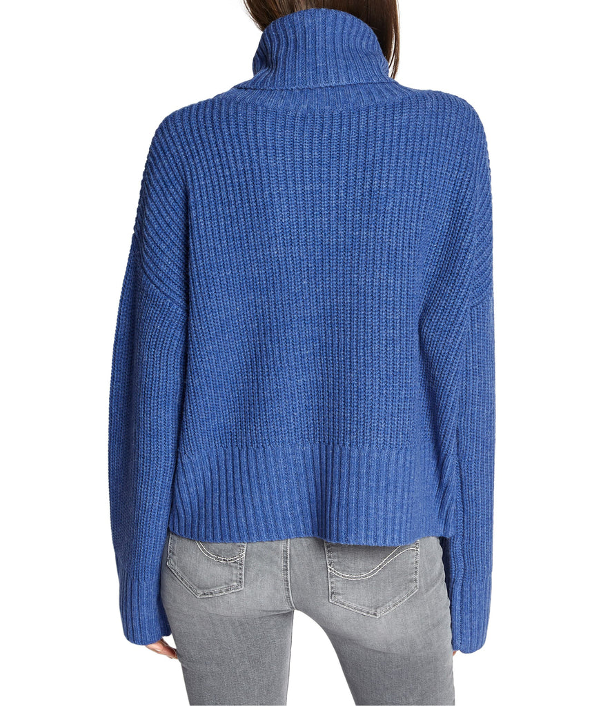 Yieldings Discount Clothing Store's Roll Neck Sweater by Sanctuary in Heather Electric Blue
