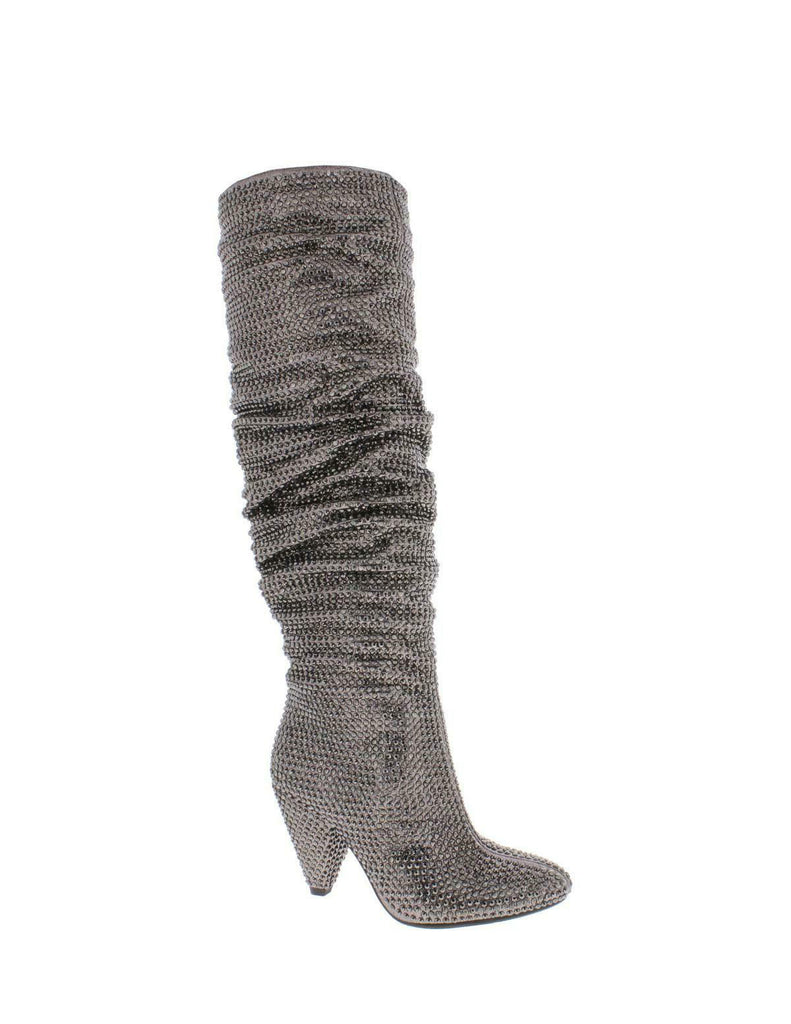 Yieldings Discount Shoes Store's Gerii Slouch Boots by INC in Pewter