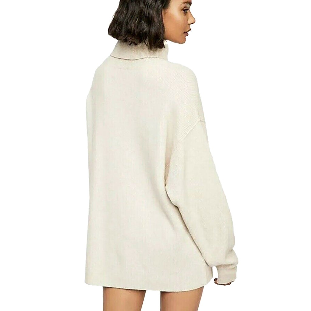 Yieldings Discount Clothing Store's Relaxed Turtleneck Sweater by Free People in Oatmeal Heather