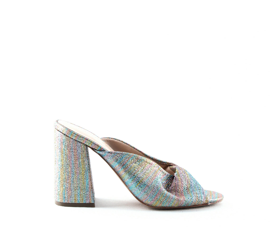 Yieldings Discount Shoes Store's Laurel Glitter High-Heel Sandals by Loeffler Randall in Rainbow