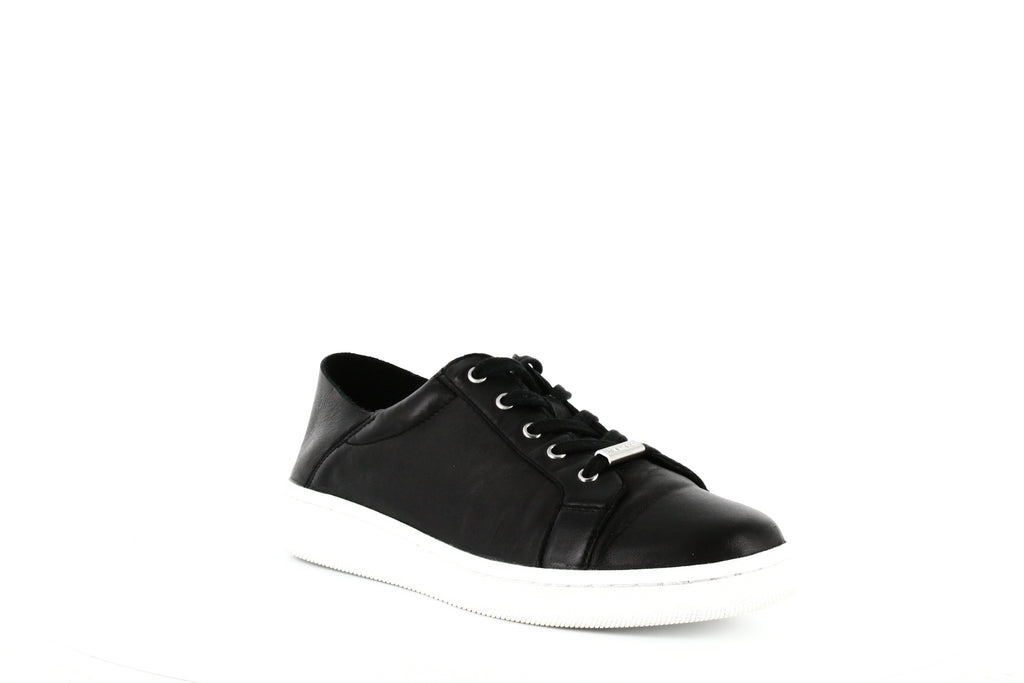 Yieldings Discount Shoes Store's Danica Sneakers by Calvin Klein in Black