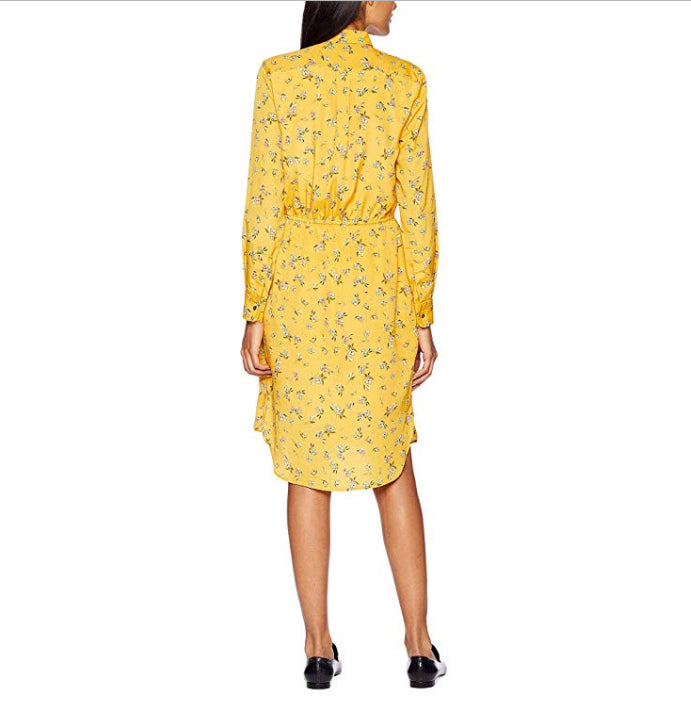 Yieldings Discount Clothing Store's Floral-Print Shirt Dress by Ralph Lauren in Gold Multi