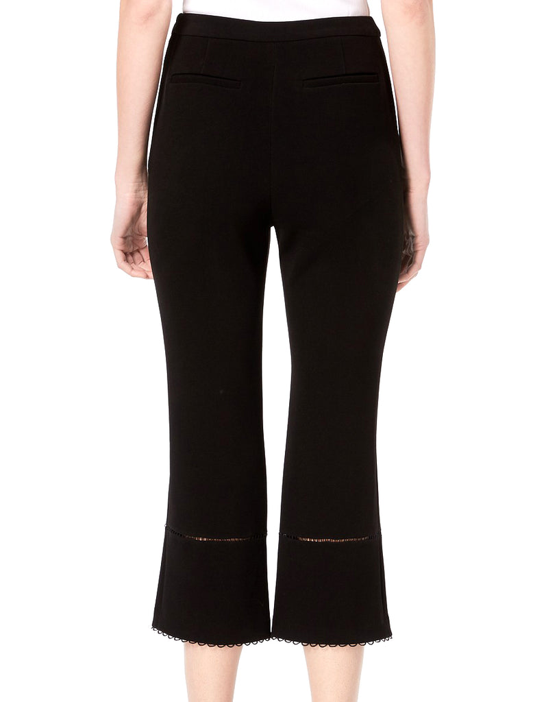 Yieldings Discount Clothing Store's Michelle Cropped Straight Leg Pants by Rachel Zoe in Black