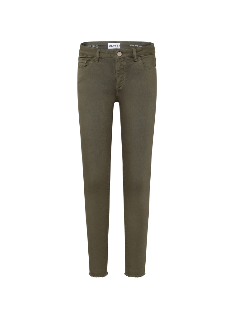 Yieldings Discount Clothing Store's Chloe - Skinny by DL1961 in Camo Green