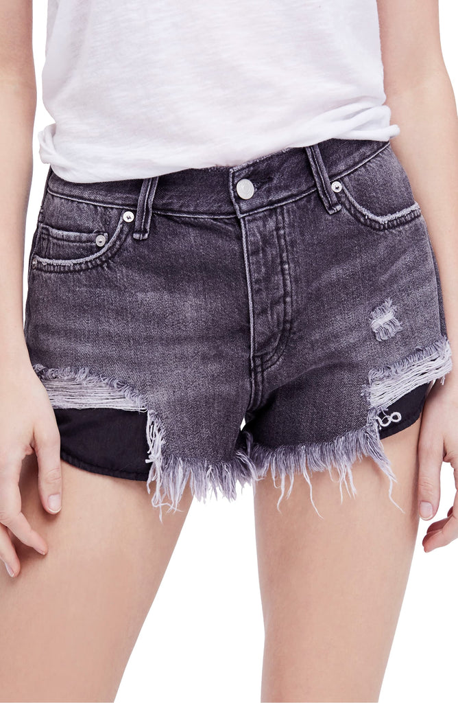 Free People | Loving Good Vibrations Ripped Denim Shorts