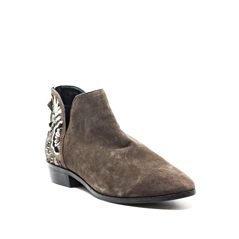 Reaction Kenneth Cole | Loop Here We Go Booties Suede and Sequin