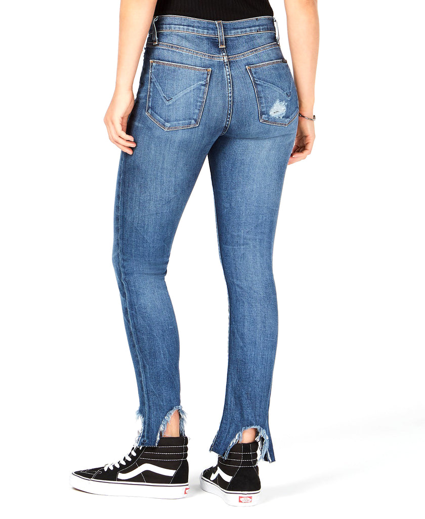 Yieldings Discount Clothing Store's Barbara High Waist Ankle Jeans by Hudson in Split Second Destruction