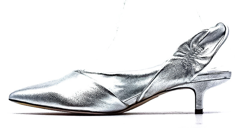 Yieldings Discount Shoes Store's Melina Pepita Pumps by Sigerson Morrison in Silver