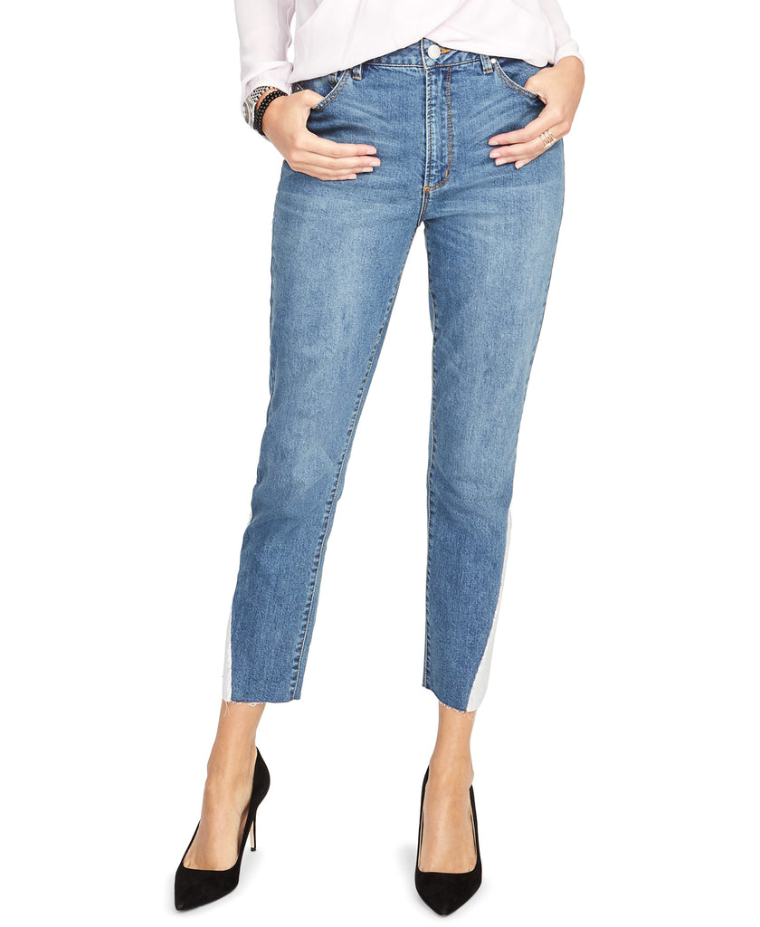 Yieldings Discount Clothing Store's Embellished Ankle Jeans by RACHEL Rachel Roy in Medium Rebel Wash