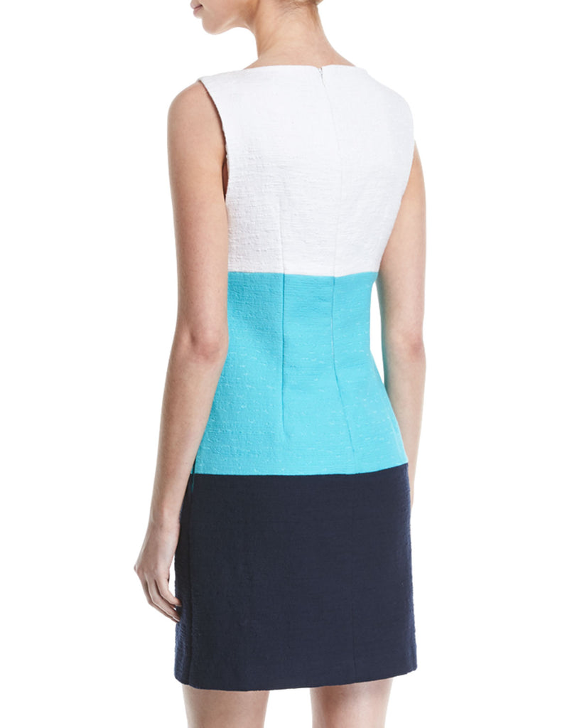 Yieldings Discount Clothing Store's Miss Brady Colorblocked Dress by Trina Turk in Blue