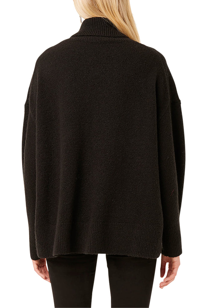 Yieldings Discount Clothing Store's Nina Knits Turtleneck Sweater by French Connection in Black