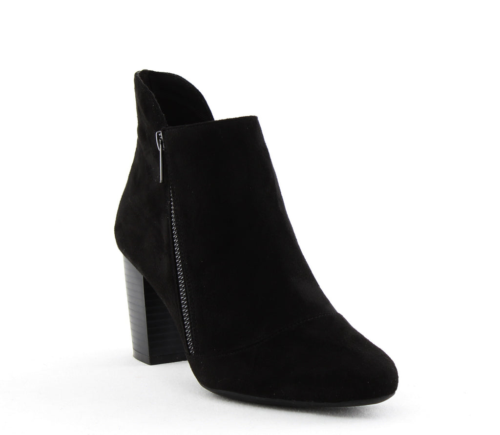 Yieldings Discount Shoes Store's Gail Suede Ankle Bootie by Rockport in Black Noir