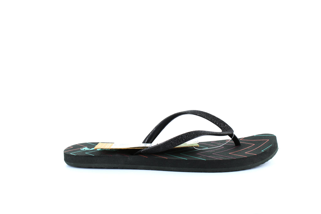 Yieldings Discount Shoes Store's Stargazer Prints Flip-Flops by Reef in Charcoal Chevron