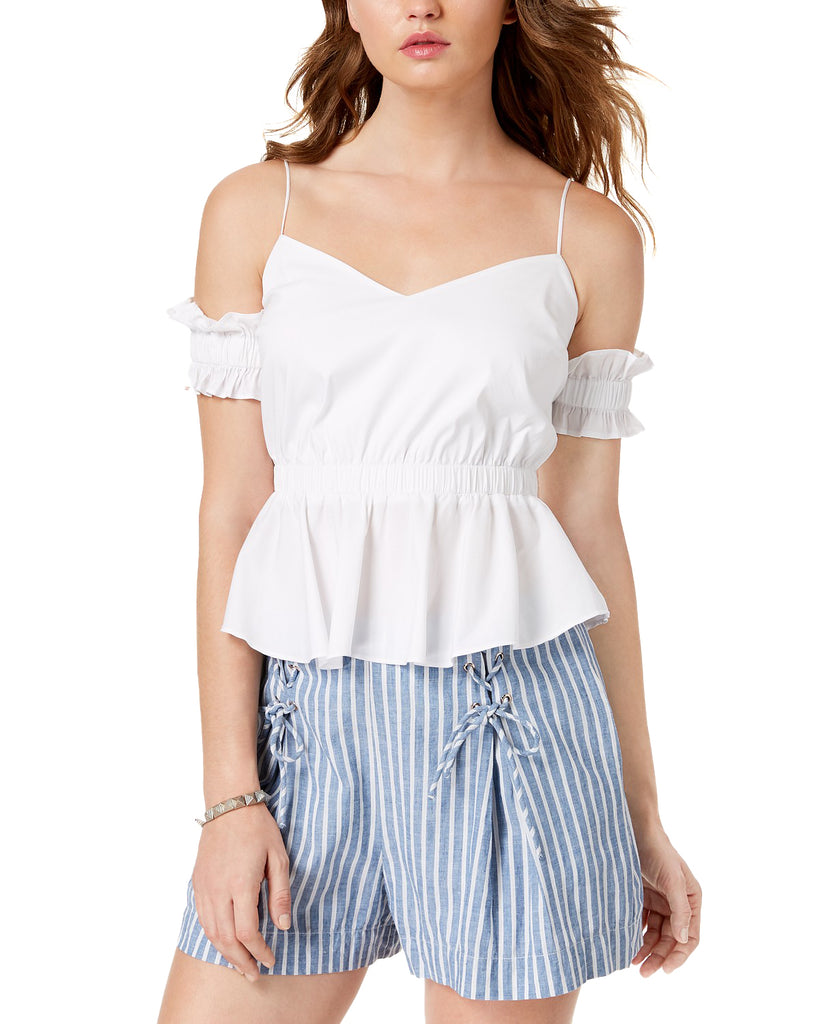 Guess | Cold Shoulder Cortney Peplum Top
