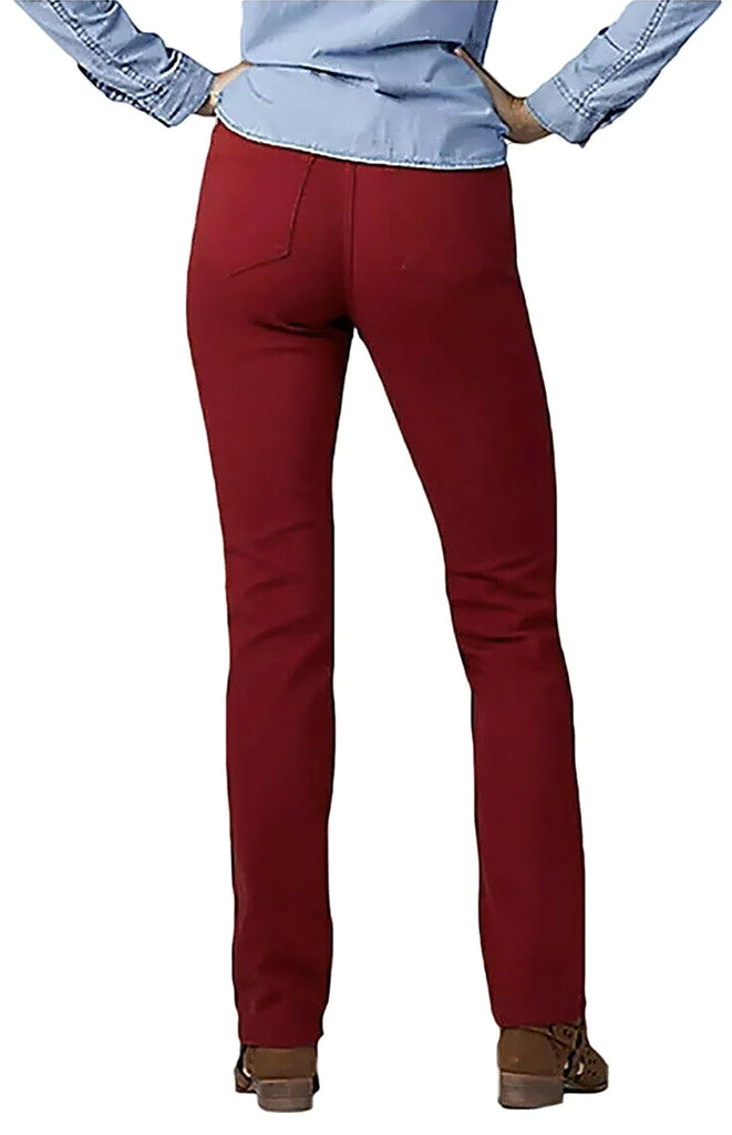 Yieldings Discount Clothing Store's Gwen Straight-Leg Jeans by Lee in Red Dahlia