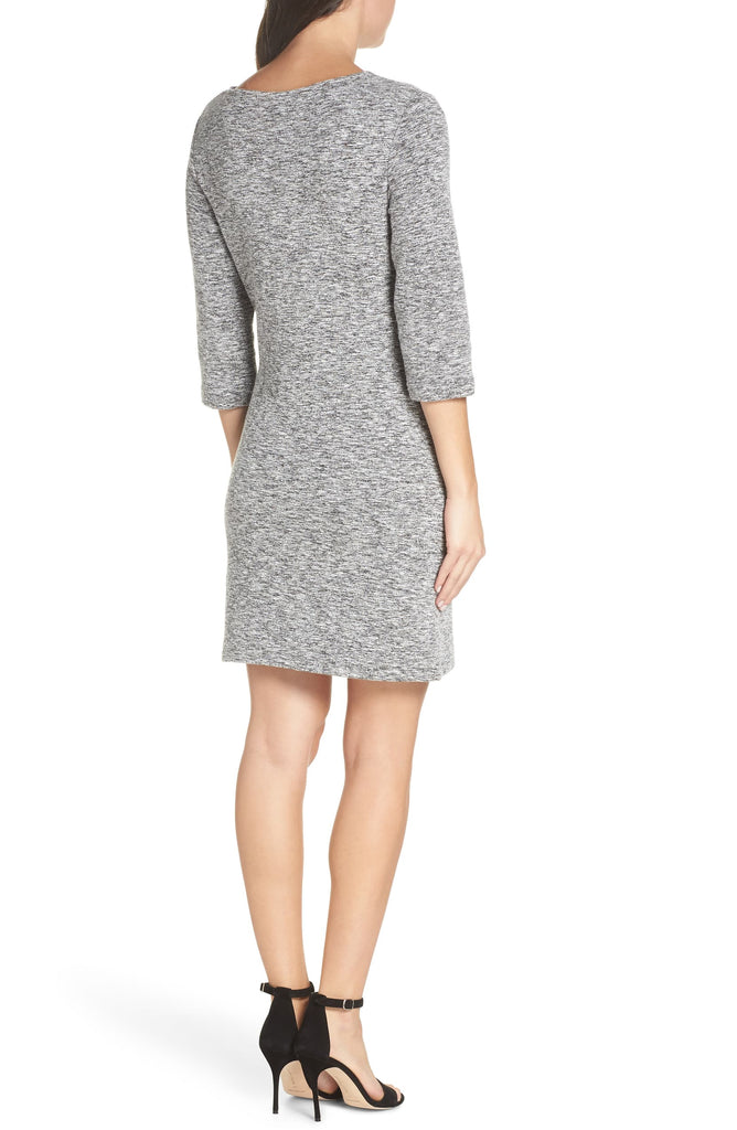 Yieldings Discount Clothing Store's Laurelle Ottoman Knit Dress by French Connection in Grey