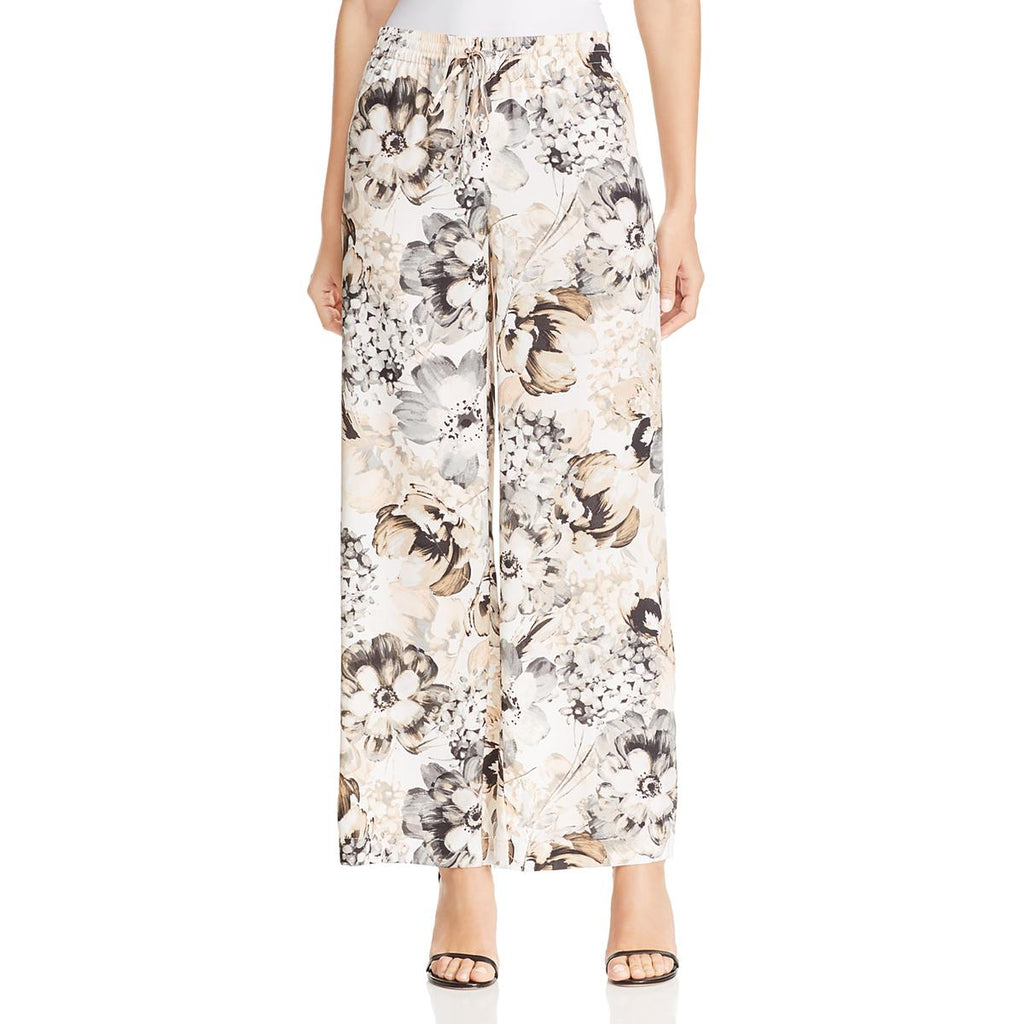 Yieldings Discount Clothing Store's Printed Wide-Leg Pants by Calvin Klein in Tin Multi