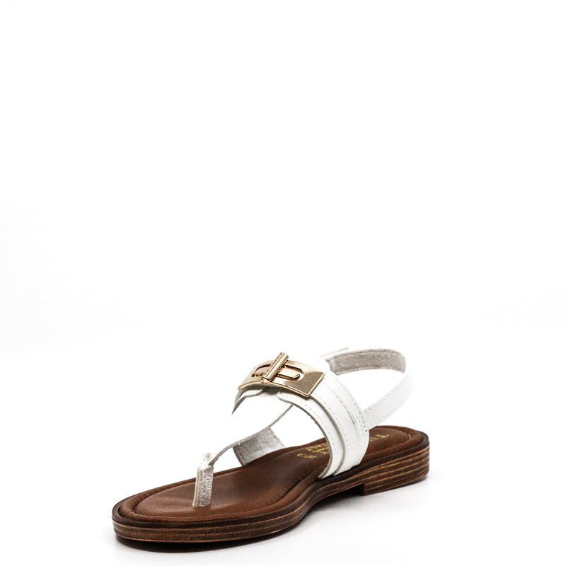 Yieldings Discount Shoes Store's Clariss Flat Sandals by Tuscany By Easy Street in White