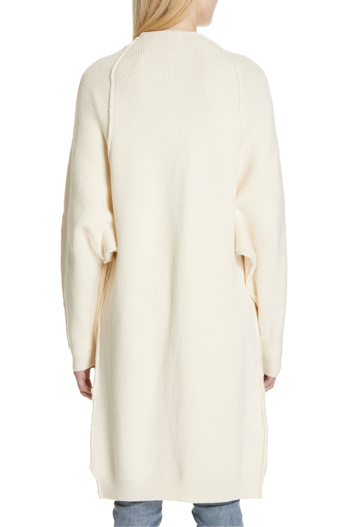 Yieldings Discount Clothing Store's Pocketed Duster Cardigan by Free People in Ivory