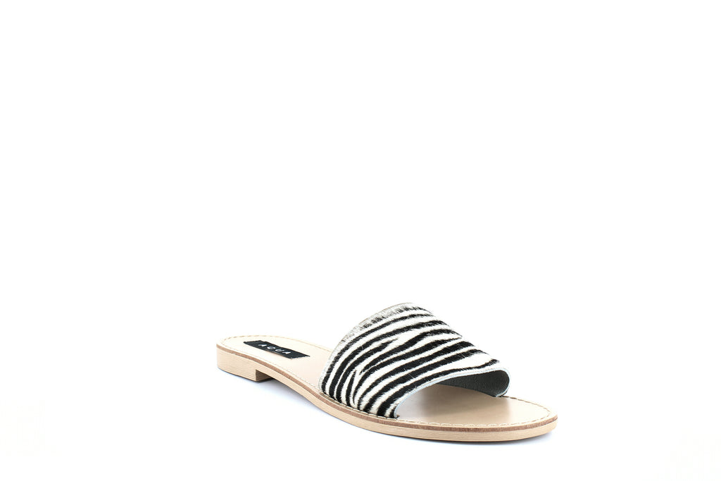 Yieldings Discount Shoes Store's Zebra Print Slide Sandals by Aqua in Zebra