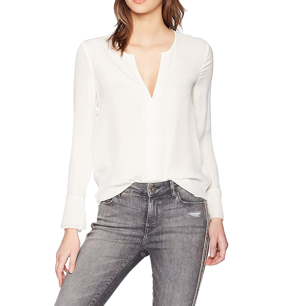 Yieldings Discount Clothing Store's Blenda Silk Blouse by Joie in Porcelain