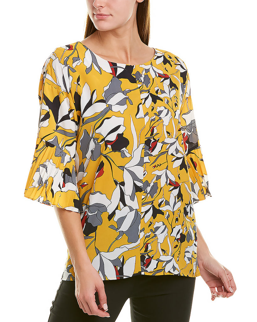 Yieldings Discount Clothing Store's Aventine Floral-Print Top by French Connection in Yellow